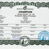 Titre de champion WCF Hilda